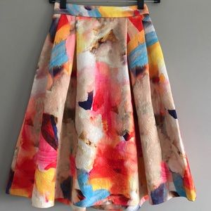 Watercolor high waisted skirt